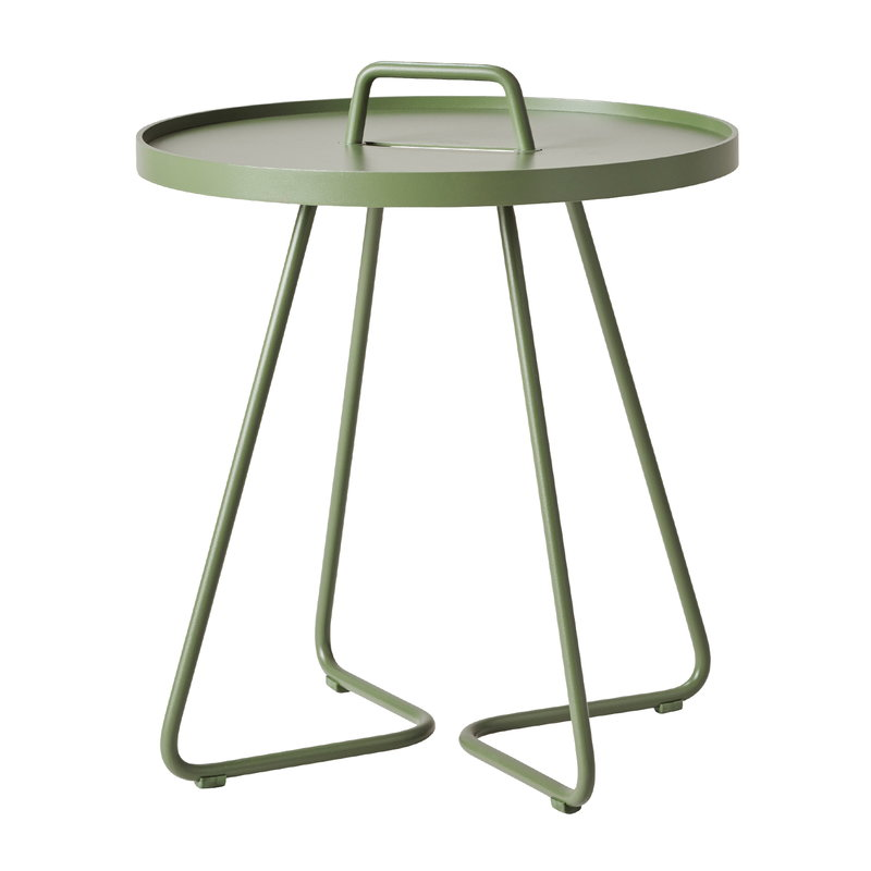 Cane-line On-the-move table, small, olive