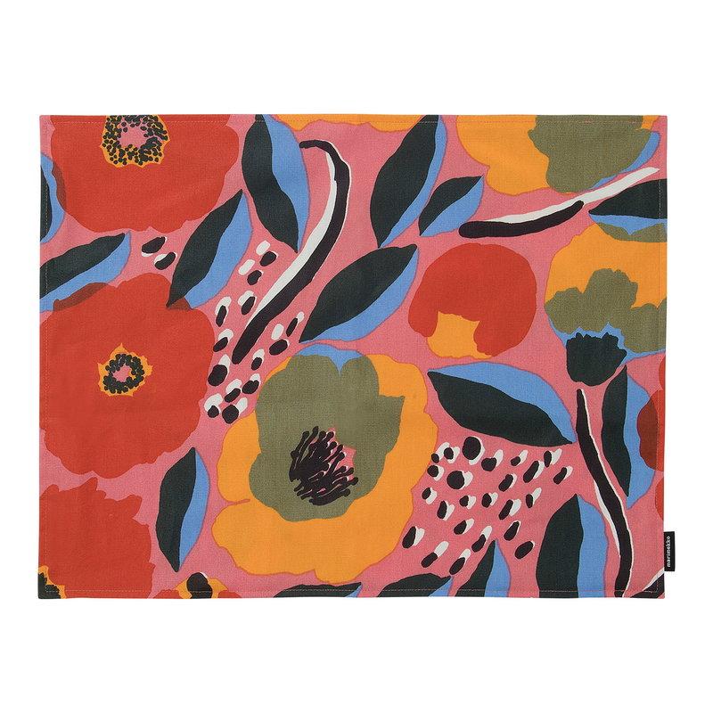 Marimekko Rosarium pinnoitettu kangastabletti, pinkki