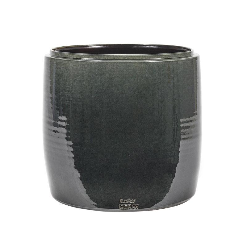 Serax Glazed Shades pot, 34 x 34 cm, blue
