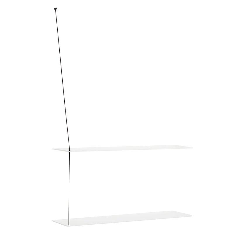 Woud Stedge hylly 80 cm, valkoinen tammi