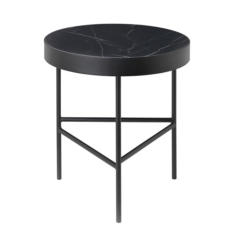 Ferm Living Marble table, medium, black