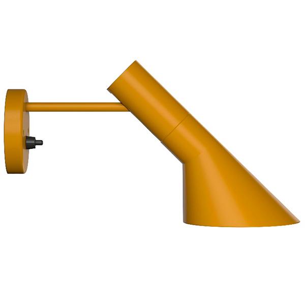 Louis Poulsen AJ wall lamp, yellow ochre