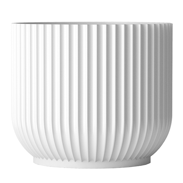 Lyngby Porcelain Flower pot, large, white