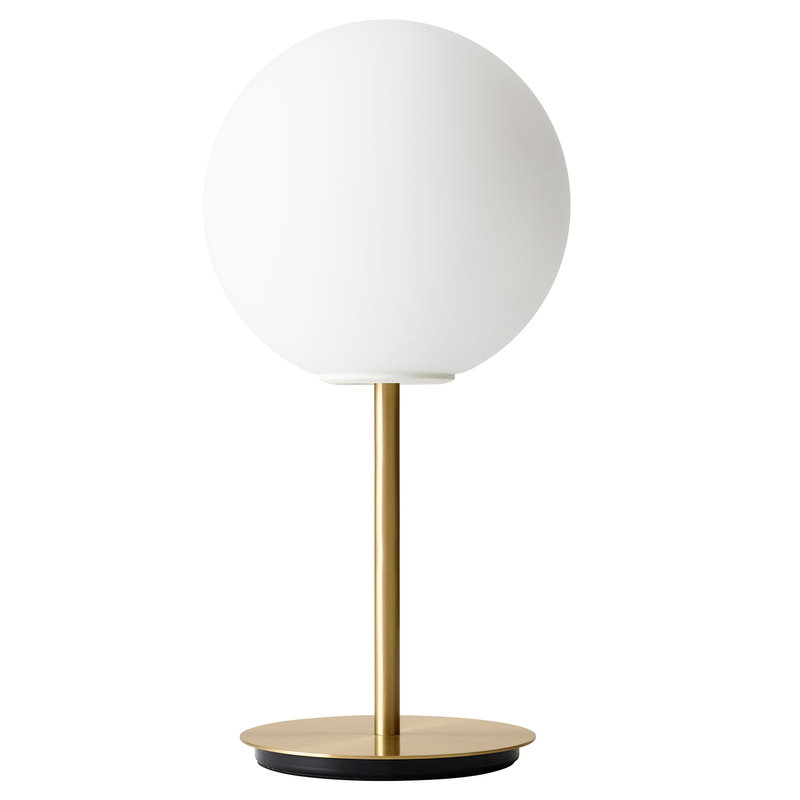 Menu TR Bulb table lamp, brushed brass - matte opal