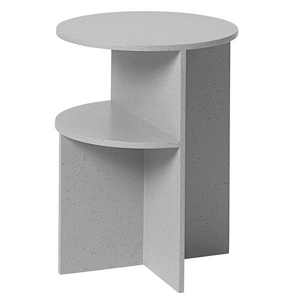 Halves Side Table, Light Grey