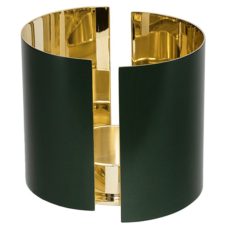 Skultuna Infinity candle holder, large, dark green