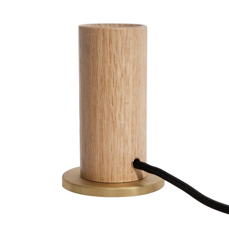 Oak Touch Table Lamp Base, Oak