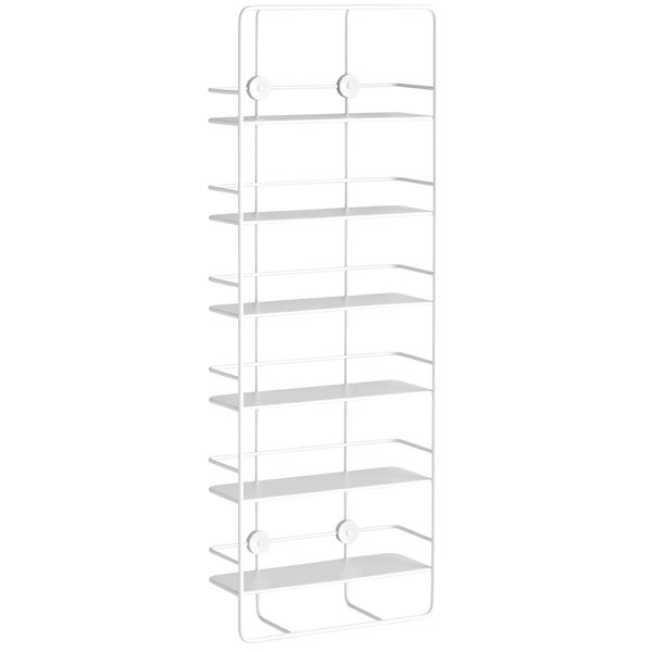 Woud Coupé wall shelf, vertical, white