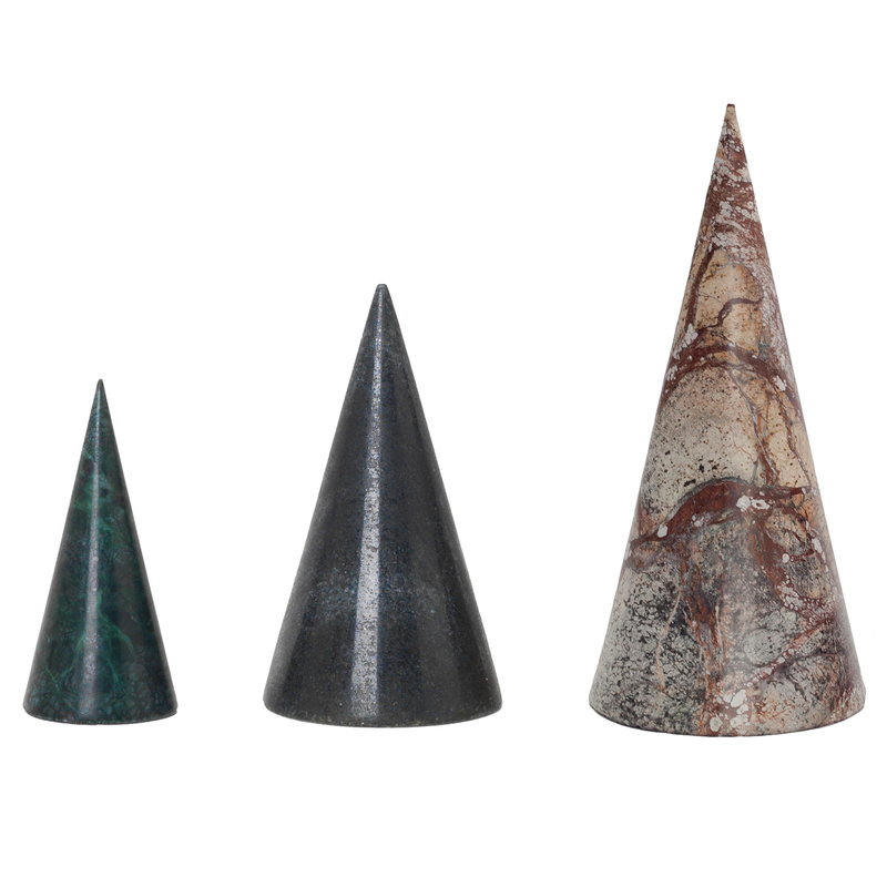 Ferm Living Marble trees, set of 3