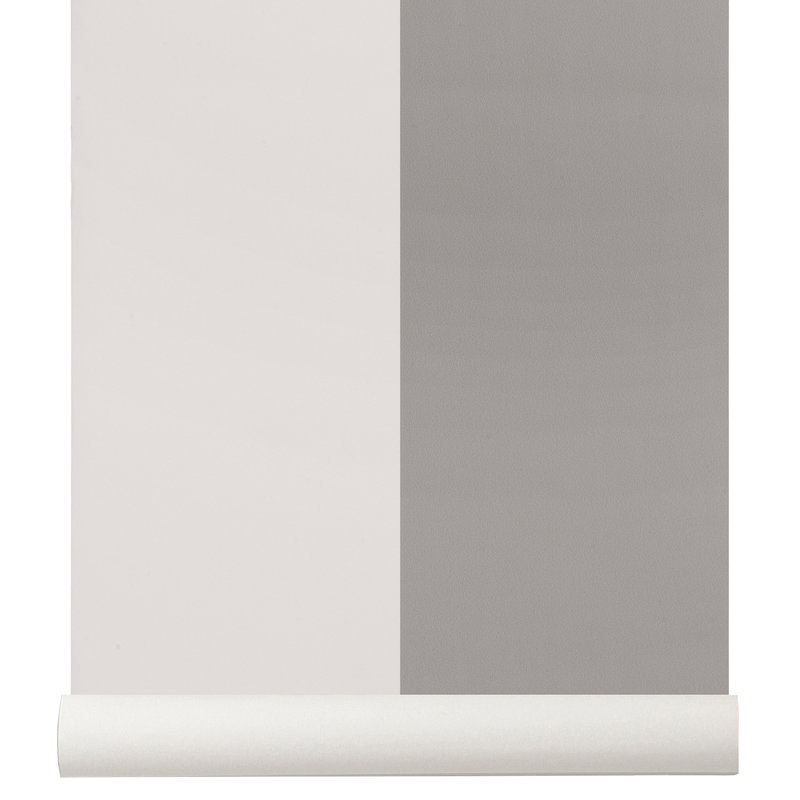 Thick Lines Wallpaper Grey Off White