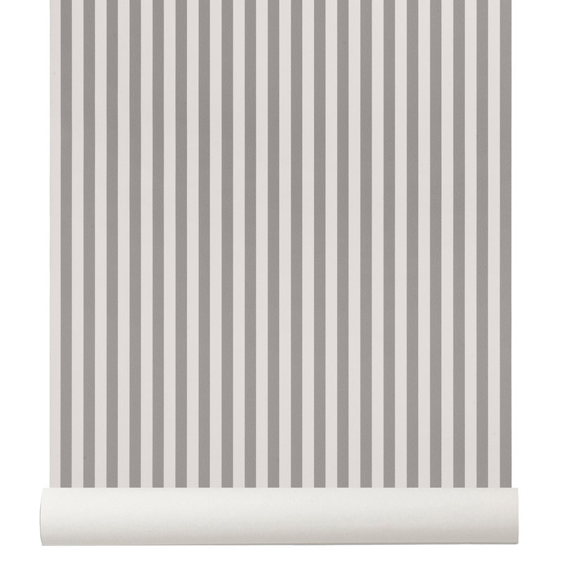 Thin Lines Wallpaper Grey Off White