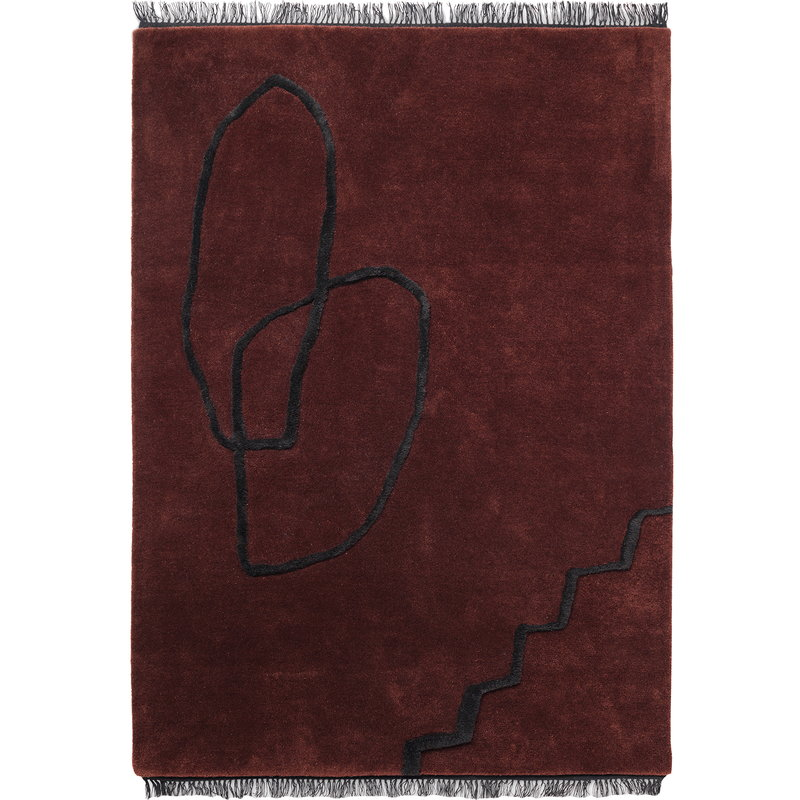 Ferm Living Desert tufted rug 200 x 300 cm, red brown