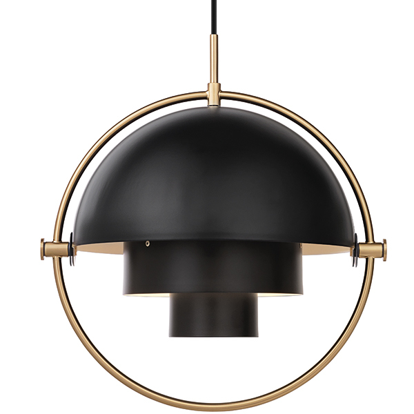 Gubi multi lite pendant brass charcoal black
