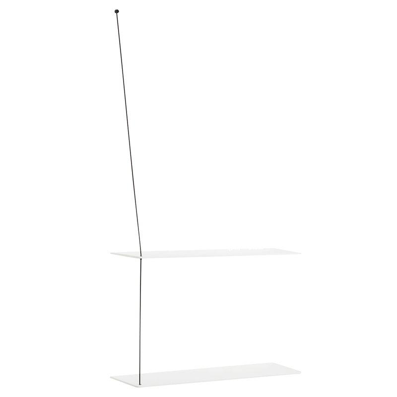 Woud Stedge hylly 60 cm, valkoinen tammi
