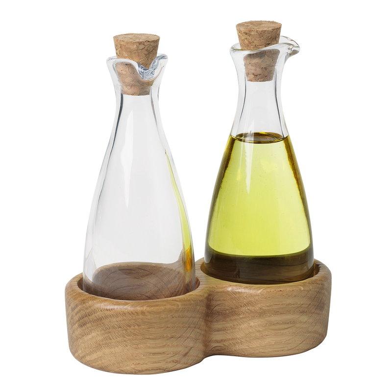 Kay Bojesen Menageri oil and vinegar set, oak