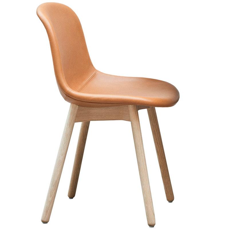 Hay Neu13 chair, leather upholstery - oak