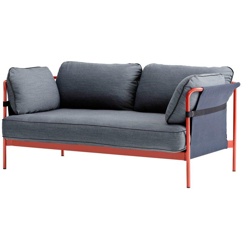 Hay Can sohva 2-istuttava, punainen-sininen runko, Surface 990