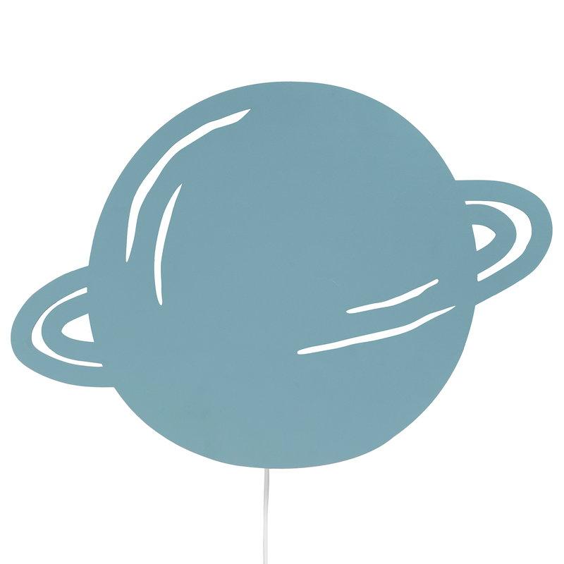 Ferm Living Planet seinävalaisin, dusty blue
