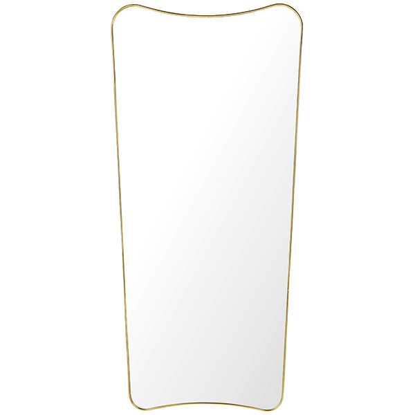 Gubi F.A. 33 mirror, large, polished brass