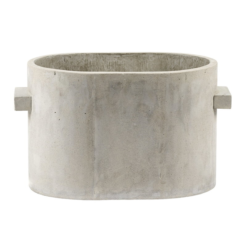 Serax Concrete plant pot oval, 34 x 23 cm, grey
