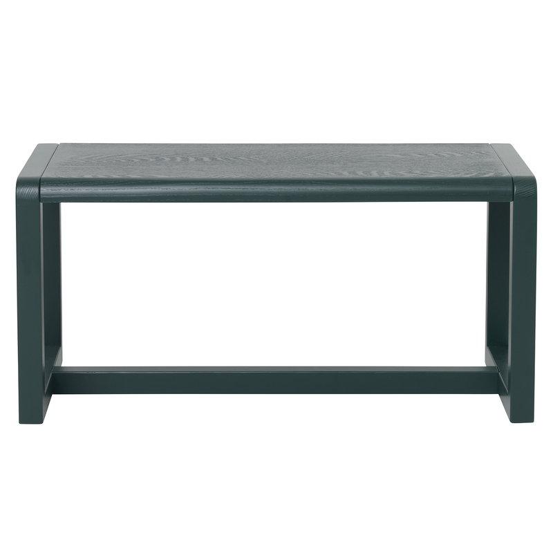 Ferm Living Little Architect bench, dark green