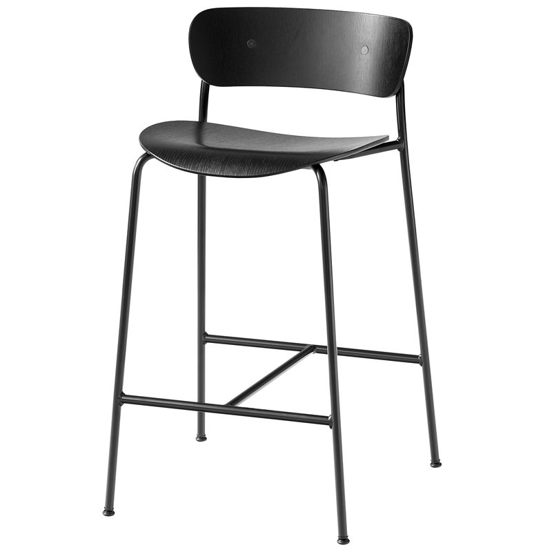 &Tradition Pavilion AV7 / AV9 bar stool, black oak