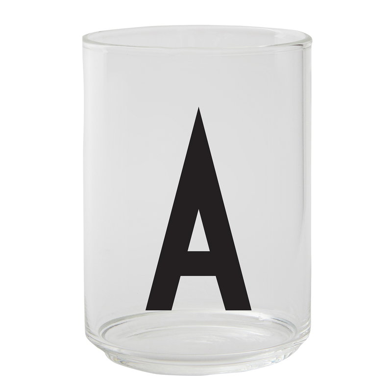 Design Letters Arne Jacobsen drinking glass, A-Z