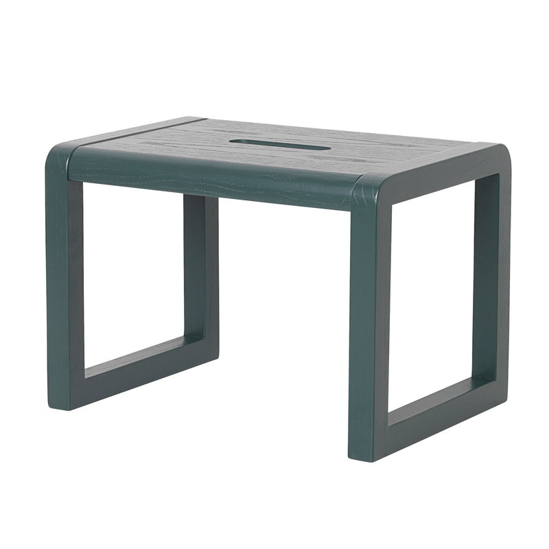 Ferm Living Little Architect stool, dark green