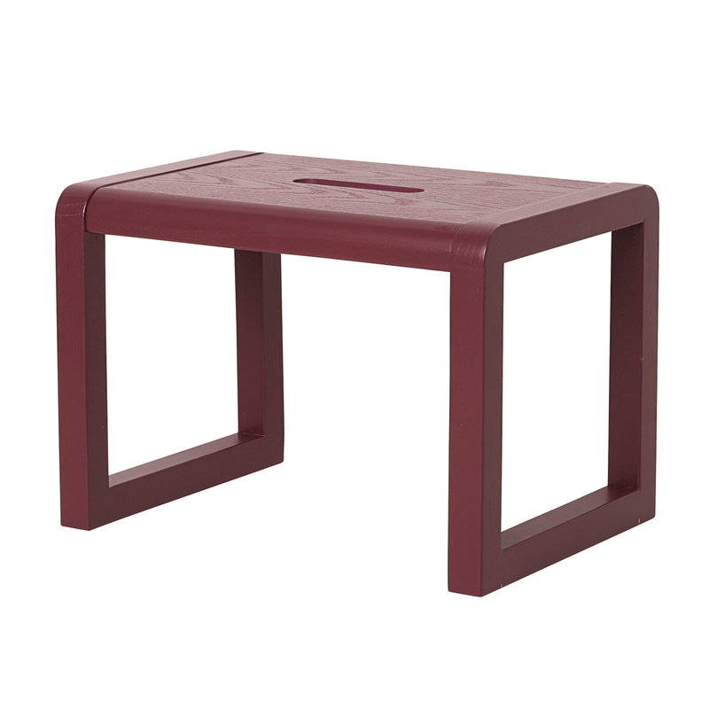 Ferm Living Little Architect stool, bordeaux