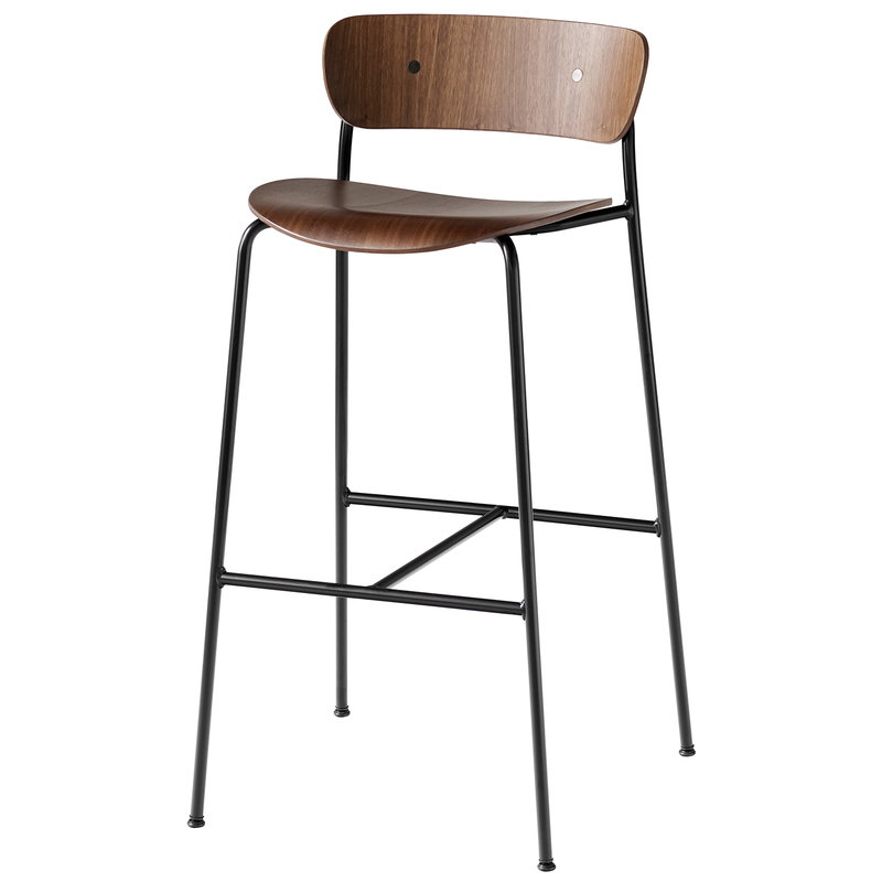 Tradition Pavilion Av7 Av9 Bar Stool Lacquered Walnut Finnish Design Shop