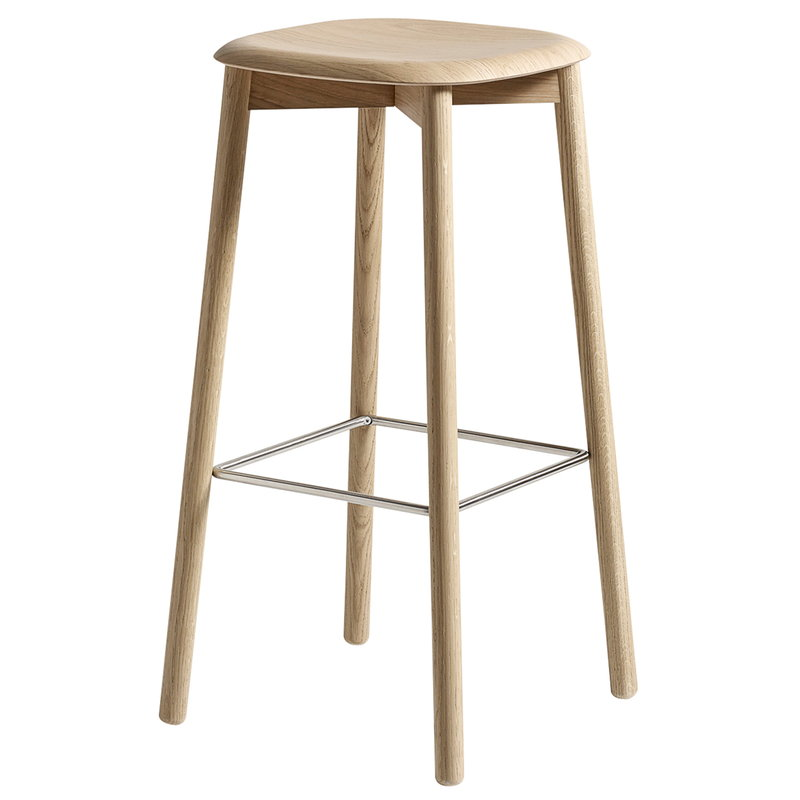 Hay Soft Edge 32 bar stool, matt lacquered oak