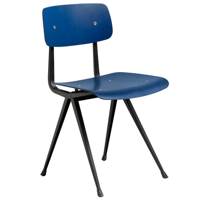 Hay Result tuoli, musta - tummansininen