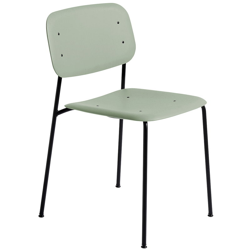 Hay Soft Edge 10 chair, black - dusty green