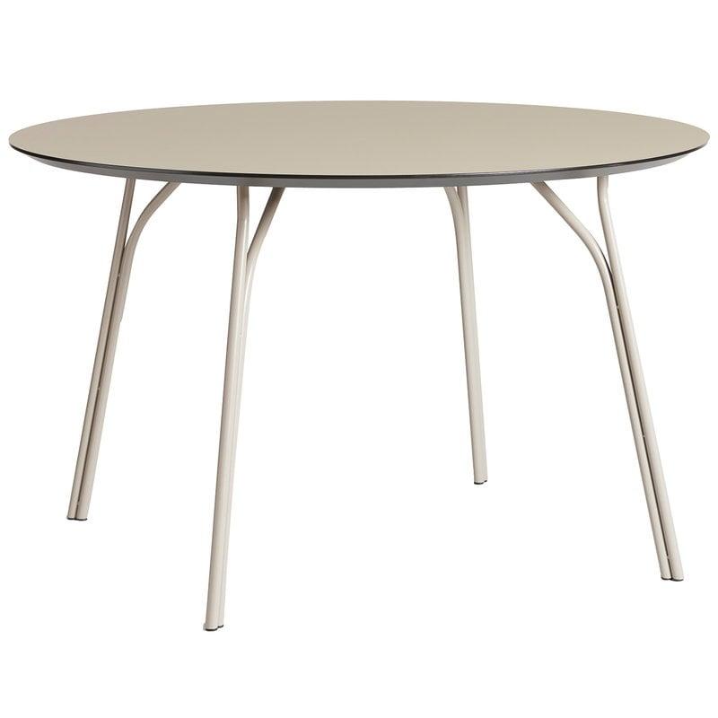 Woud Tree ruokapöytä, pyöreä 120 cm, beige