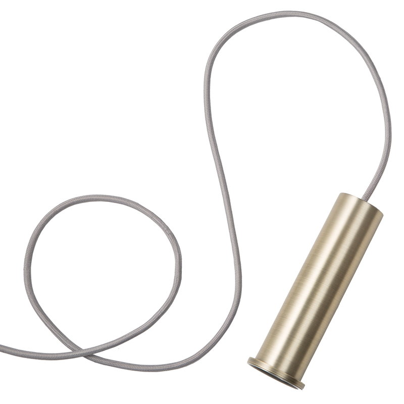 Ferm Living Socket Pendant High, brass