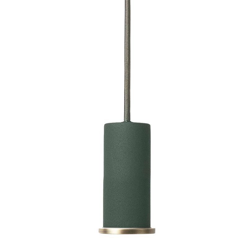 Ferm Living Lampada Socket Pendant Low, verde scuro