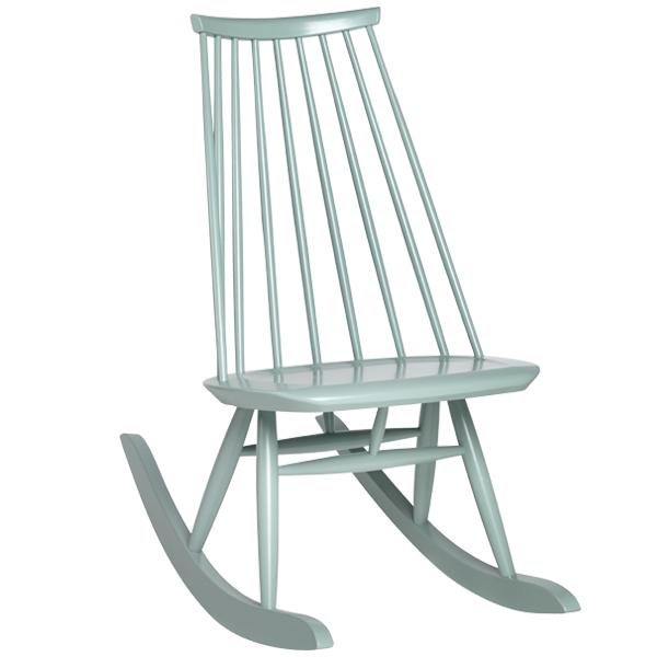 Artek Mademoiselle rocking chair, sage green