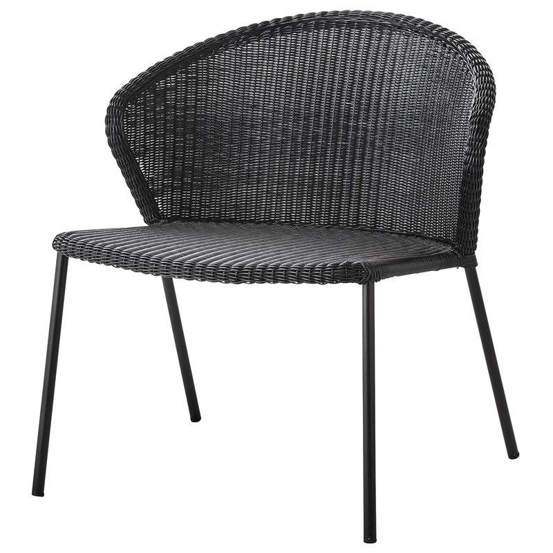 Cane-line Lean lounge chair, black