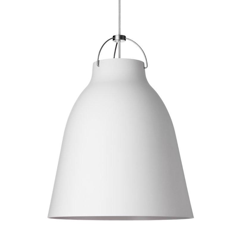 Fritz Hansen Caravaggio P3 pendant, matt white, 6 m cord