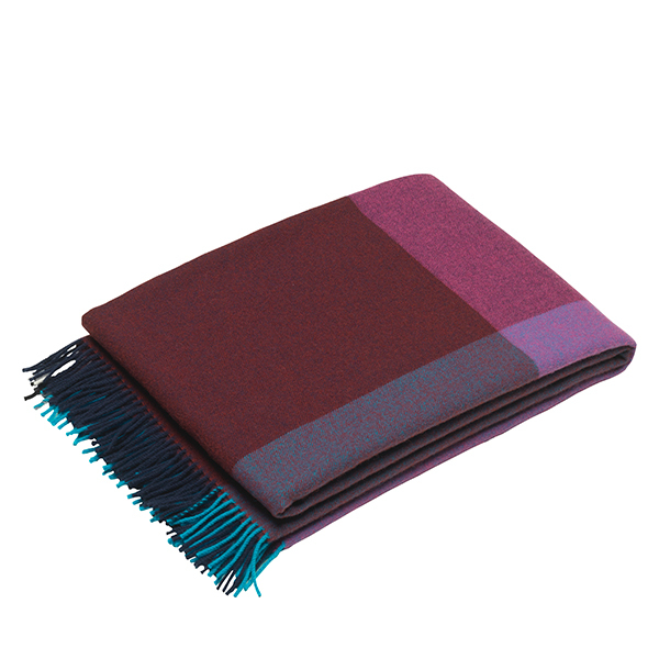 Vitra Colour Block blanket, blue - bordeaux