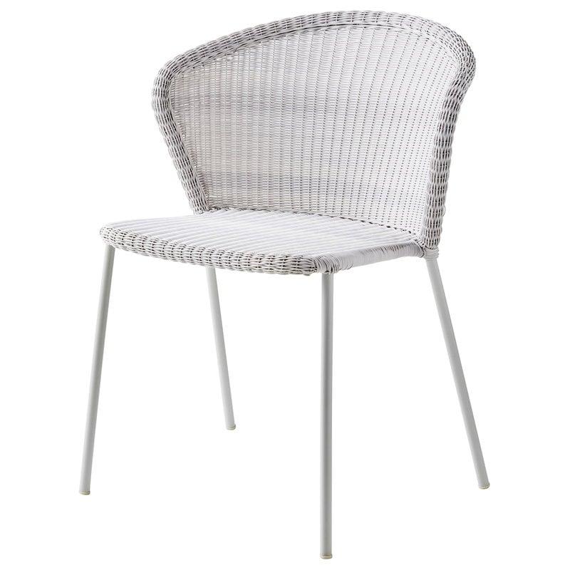 Cane-line Lean chair, white-grey