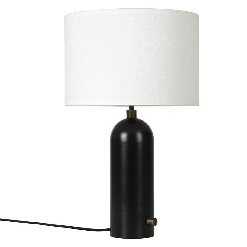 Gravity table lamp small black steel