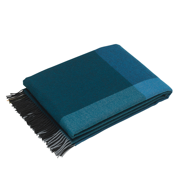 Vitra Colour Block blanket, black - blue