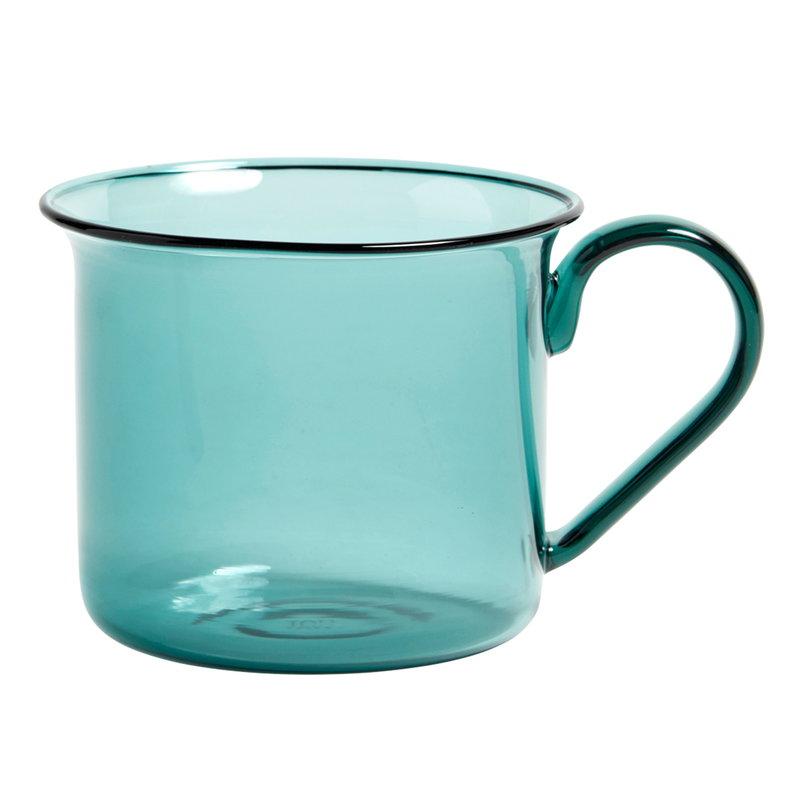 Hay Borosilicate cup, aqua
