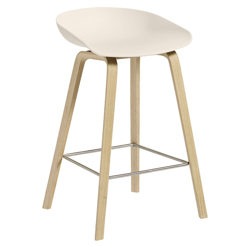 Hay About A Stool AAS32, 64 cm, cream white - soaped oak