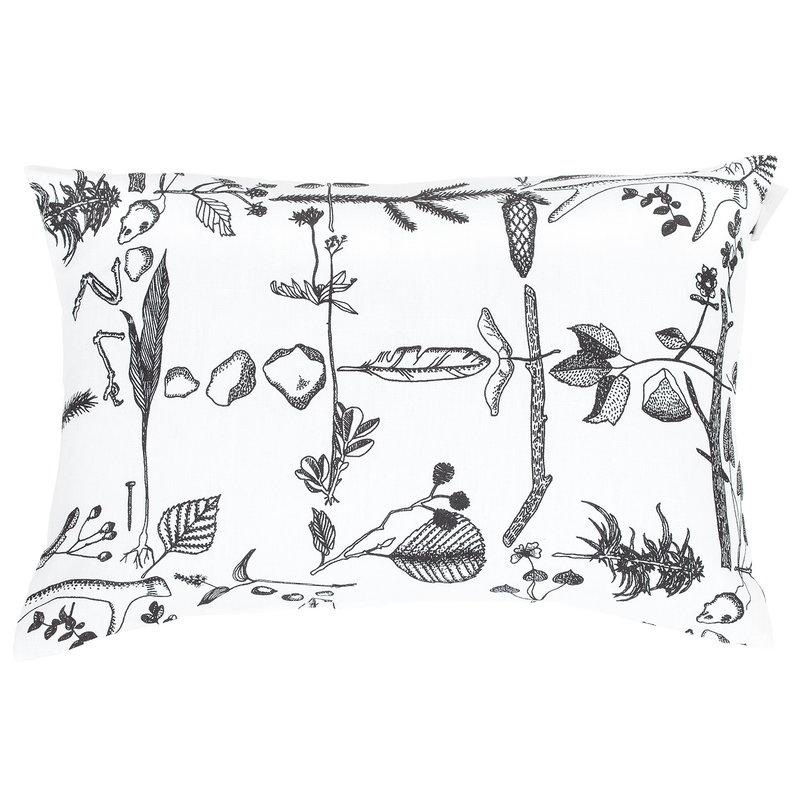 Saana ja Olli Myrskyn jälkeen cushion cover, 40 x 60 cm, white - black