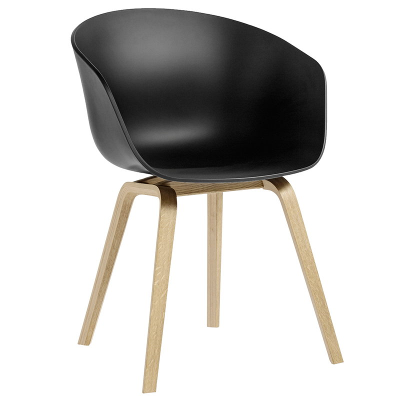 Hay About A Chair AAC22, soft black - rovere saponato