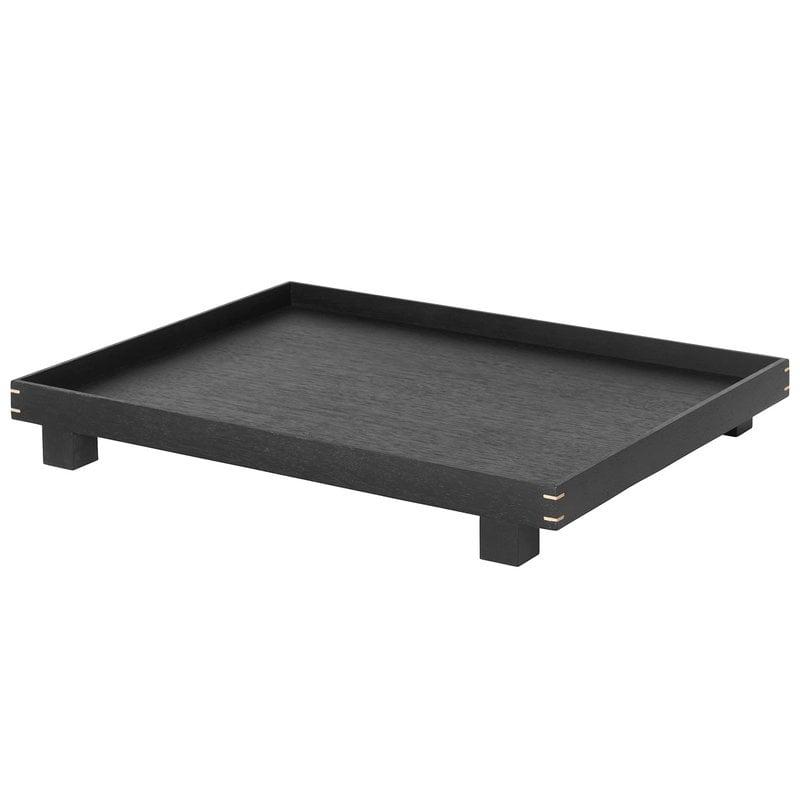 Ferm Living Bon tray, L, black stained oak