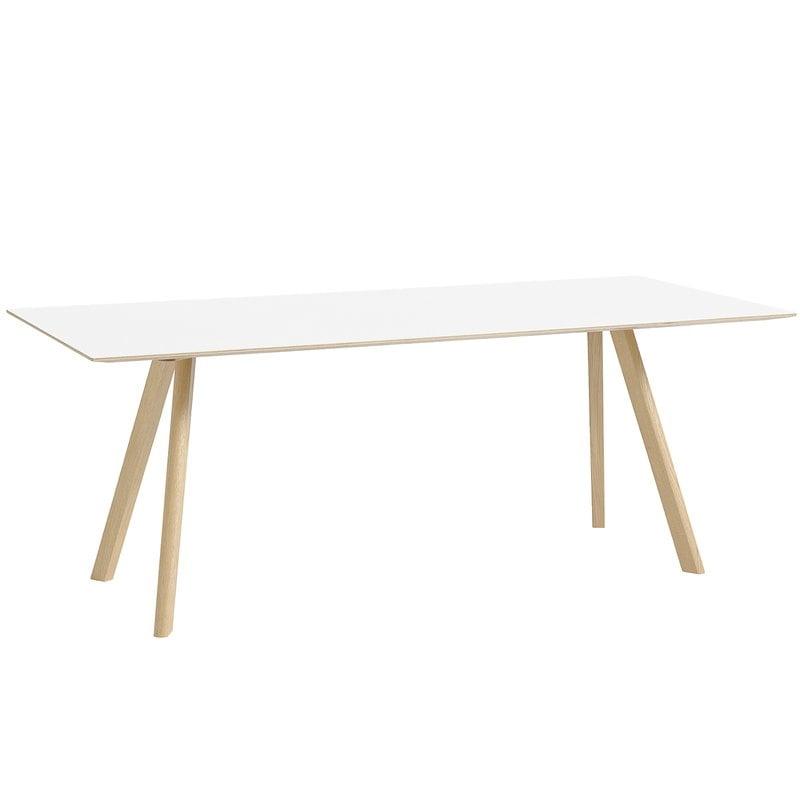 Hay CPH30 pöytä 200x90cm, mattalakattu tammi - luonnonvalkoinen lino