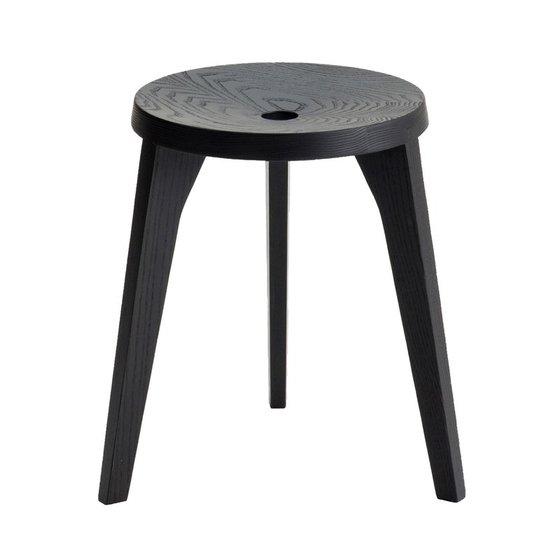 Ariake Dovetail stool, black